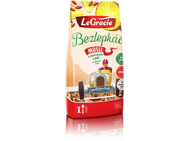 Zobrazit detail výrobku LeGracie Müsli Bezlepkáč ananas a goji 80g