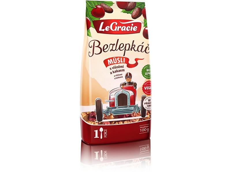 LeGracie Müsli Bezlepkáč višně a kakao 80g
