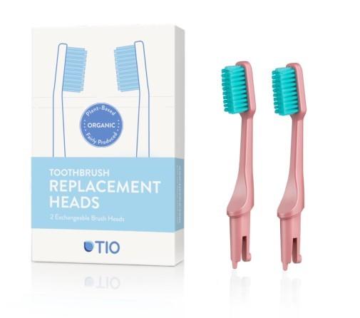 Zobrazit detail výrobku Tio Náhradní hlavice k zubnímu kartáčku (ultra soft) 2 ks - korálově růžová