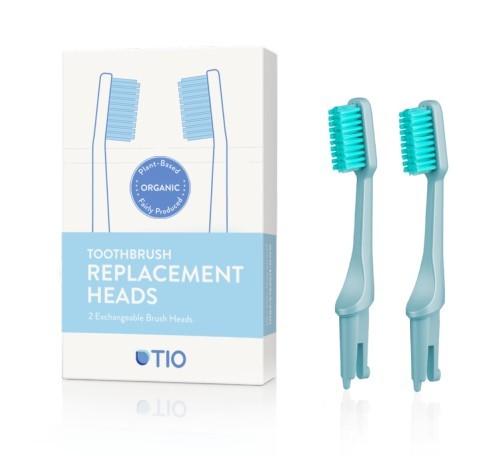 Zobrazit detail výrobku Tio náhradní hlavice k zubnímu kartáčku ledovcově modrá ultra soft 2 ks