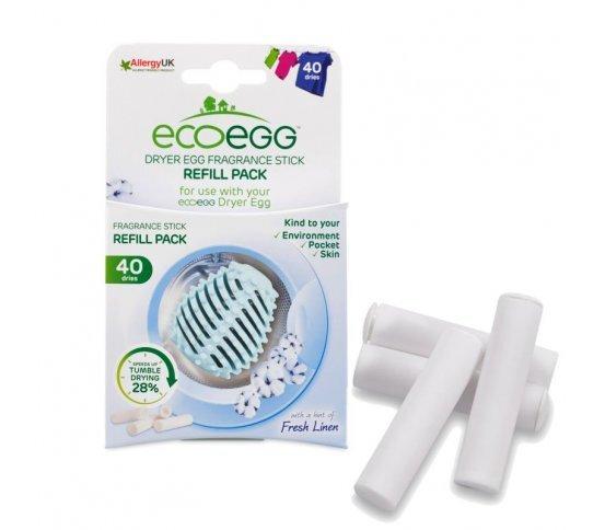 Ecoegg Náplň do vajíčka do sušičky prádla s vůní svěží bavlny 4 ks