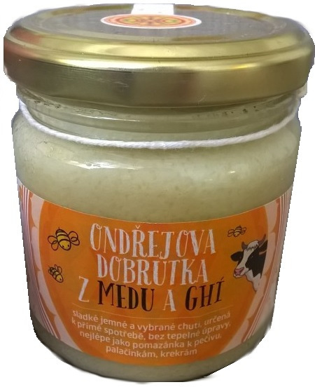Zobrazit detail výrobku Ondřej Ullrich Ondřejova dobrůtka z medu a ghí 185 g