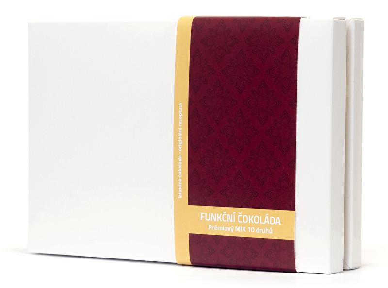 Prémiový mix 10 druhů - variety pack - funkční čokolády 100 g (10 x 2 ks)