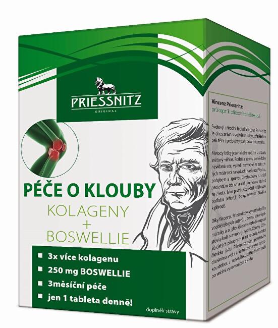 Priessnitz Kolageny + Boswellie péče o klouby 90 + 30 tbl.