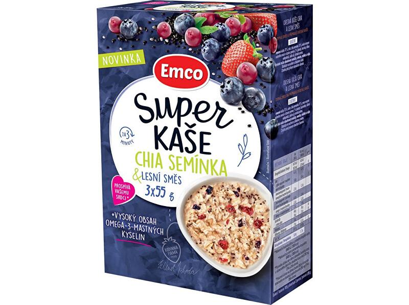 Zobrazit detail výrobku EMCO Super kaše Chia semínka & lesní směs 3x55g