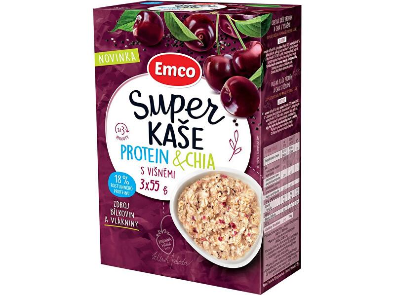 Zobrazit detail výrobku EMCO Super kaše Protein & chia s višněmi 3x55g