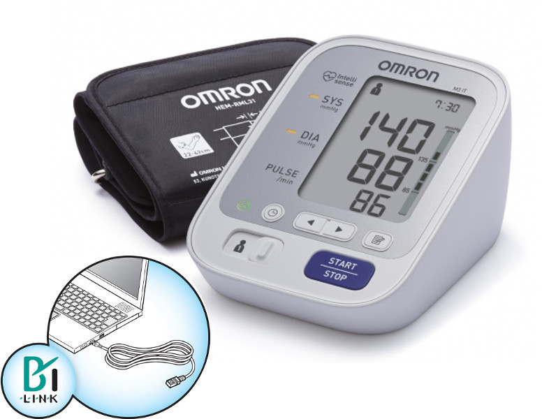 Zobrazit detail výrobku Omron Tonometr M3 IT s USB připojením na internet