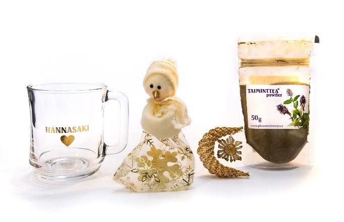 Zobrazit detail výrobku Phoenix Division Vánoční balíček bylinná čajová směs TAIMINTTEA 50 g a hrníček Hannasaki