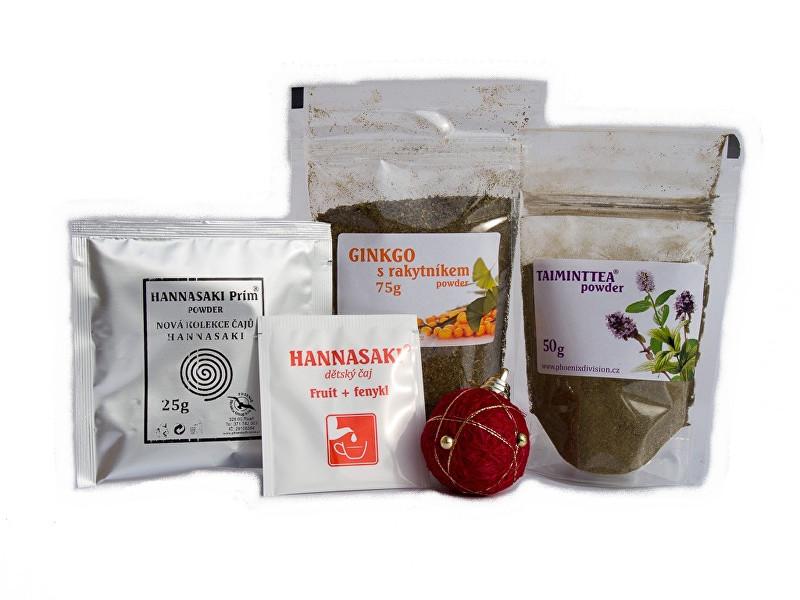 Bylinný balíček čaj TAIMINTTEA a GYNKGO srakytníkem powder