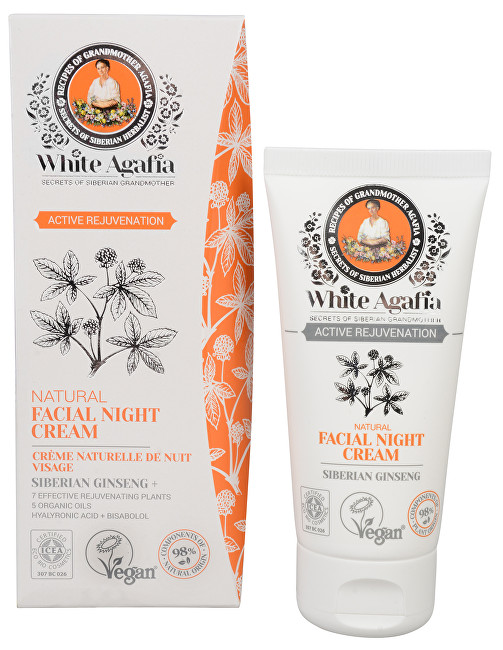 White Agafia Active Rejuvenation přírodní noční pleťový krém 50+ 50 ml