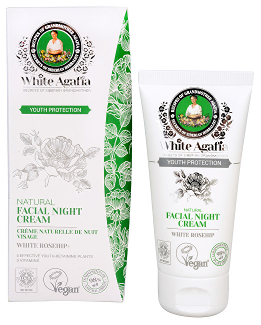 White Agafia Youth Protection přírodní noční pleťový krém do 35 let 50 ml