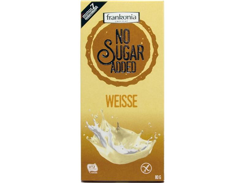 Zobrazit detail výrobku FRANKONIA Bílá čokoláda bez přidaného cukru 80g