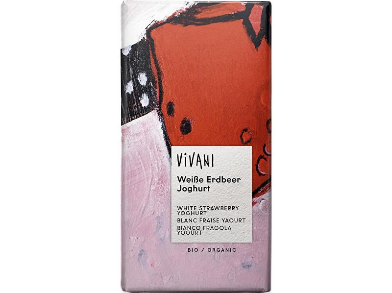 Zobrazit detail výrobku VIVANI Bio bílá čokoláda s jahodami a jogurtem 80g