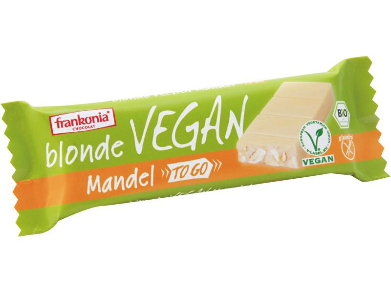 Zobrazit detail výrobku FRANKONIA Bio Bílá tyčinka s kousky mandlí 20% 40g