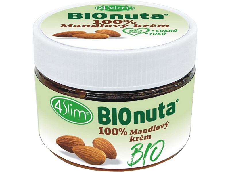 4Slim Bio Bionuta 100% mandlový krém 250g
