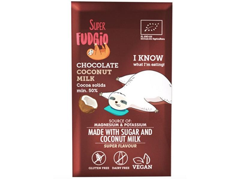 Zobrazit detail výrobku Super Fudgio Bio Čokoláda s kokosovým mlékem 80g