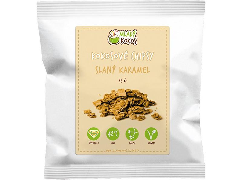 Mladý kokos Bio kokosové chipsy slaný karamel 25g