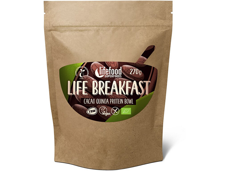 Zobrazit detail výrobku Lifefood Bio Life breakfast Kaše kakaová s quinoou 270g