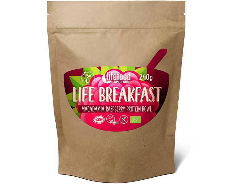 Zobrazit detail výrobku Lifefood Bio Life breakfast Kaše malinová s makadamiemi 300g