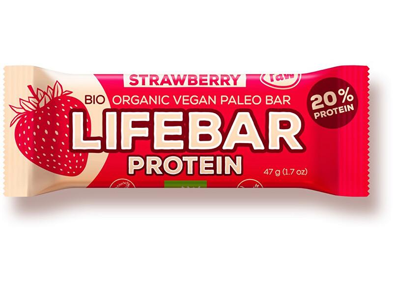 Zobrazit detail výrobku Lifefood Bio tyčinka Lifebar protein jahodová 47g