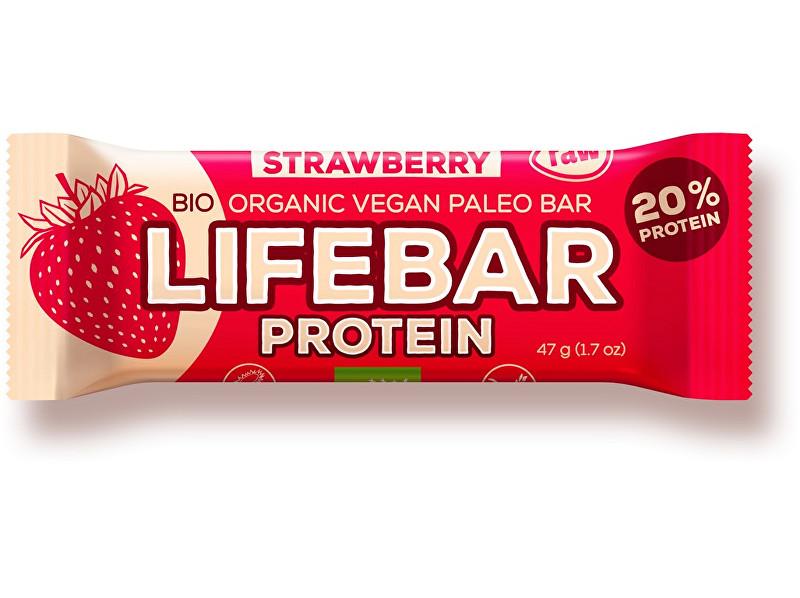 Lifefood Bio tyčinka Lifebar protein jahodová 47g