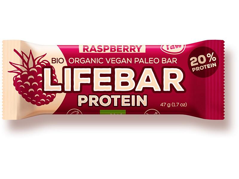 Zobrazit detail výrobku Lifefood Bio tyčinka Lifebar protein malinová 47g