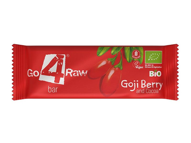 GO4RAW Bio tyčinka GOJI BERRY&COCOA 25g