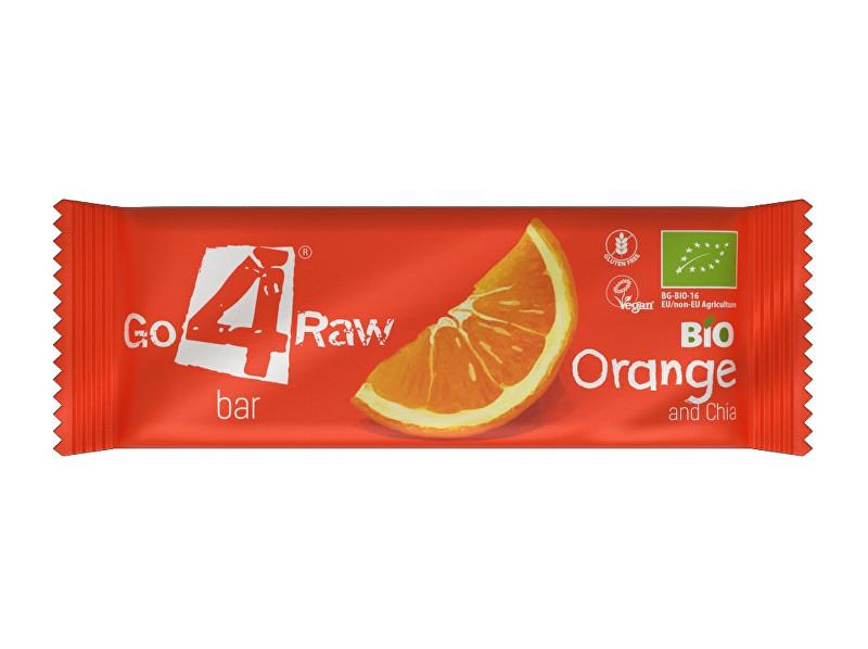 GO4RAW Bio tyčinka ORANGE&CHIA 25g