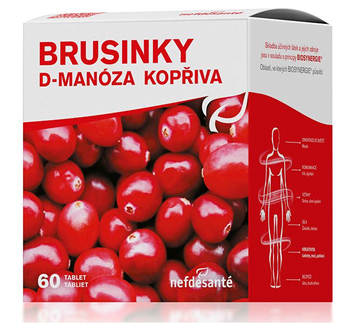 Zobrazit detail výrobku Nef de Santé Brusinky D-Manóza Kopřiva 60 tbl.