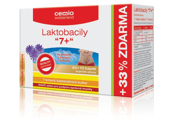 Zobrazit detail výrobku Cemio Cemio Laktobacily 7+ 40 kapslí