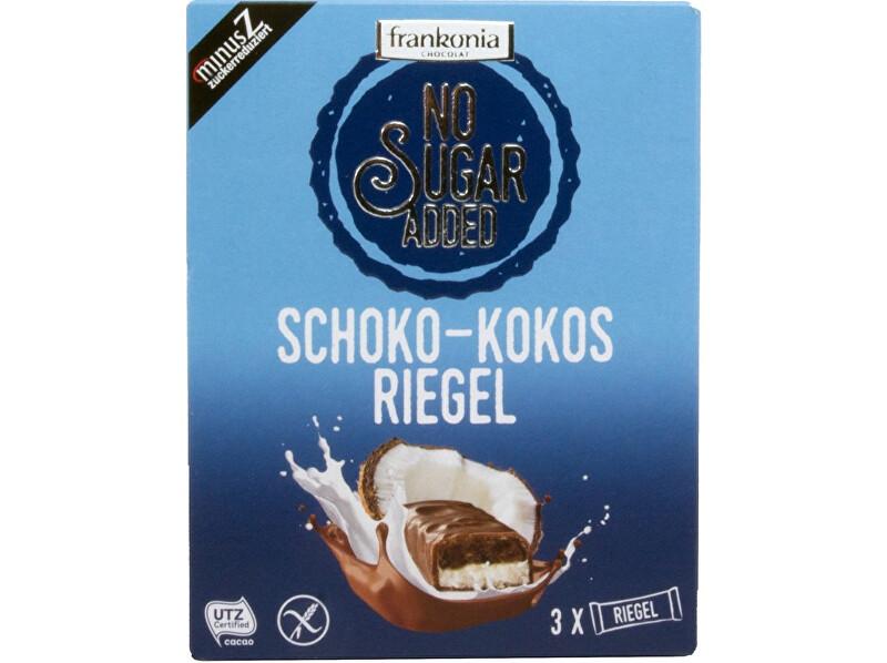 Zobrazit detail výrobku FRANKONIA Čokoládovo-kokosová tyčinka bez přidaného cukru 100g