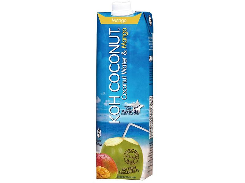 KOH COCONUT Koh coconut 100% kokosová voda s příchutí manga 1l