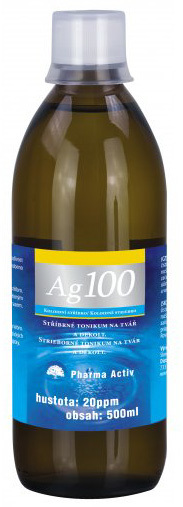 Koloidní stříbro Ag 100 (20ppm) 500 ml
