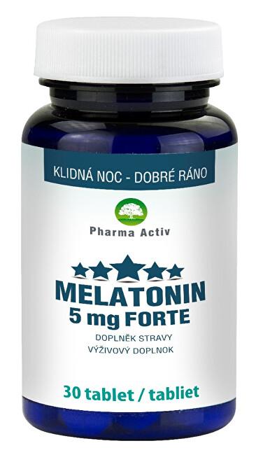 Zobrazit detail výrobku Pharma Activ Melatonin 5 mg Forte 30 tablet