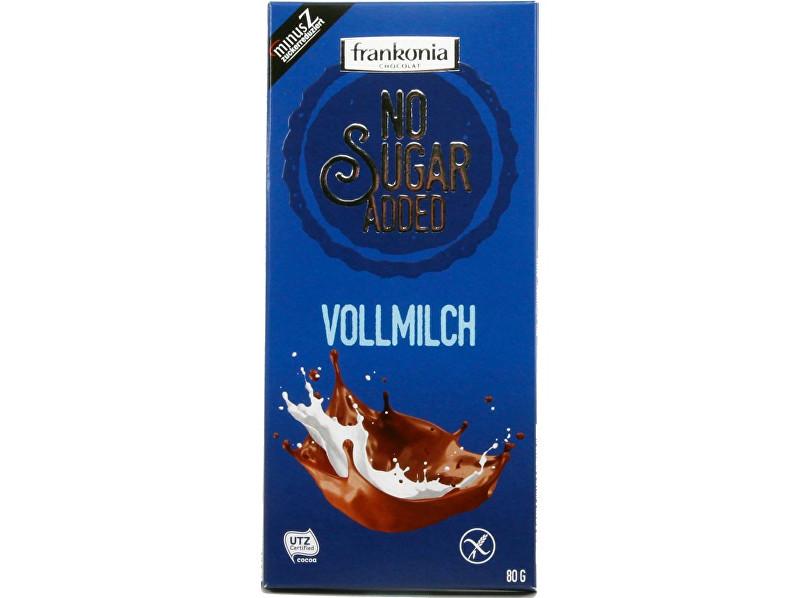 Zobrazit detail výrobku FRANKONIA Mléčná čokoláda bez přidaného cukru 80g