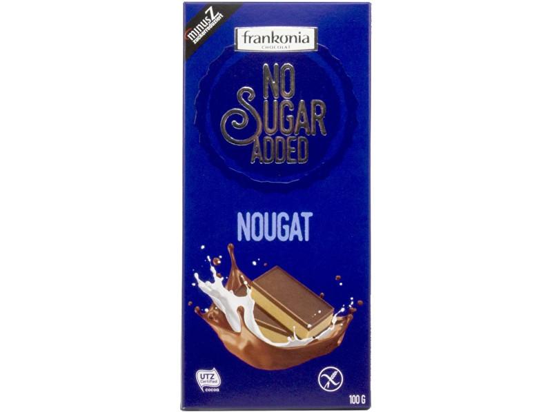 Zobrazit detail výrobku FRANKONIA Nugátová čokoláda bez přidaného cukru 100g