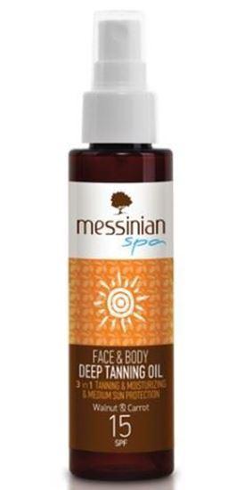 Zobrazit detail výrobku Messinian Spa Opalovací olej na obličej a tělo SPF 15 100 ml