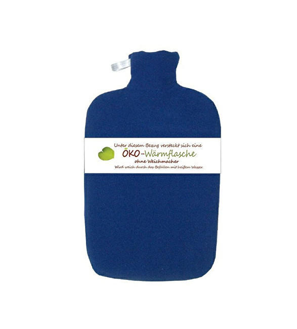 Hugo-Frosch Termofor Eco Classic Comfort s fleecovým obalem - modrý
