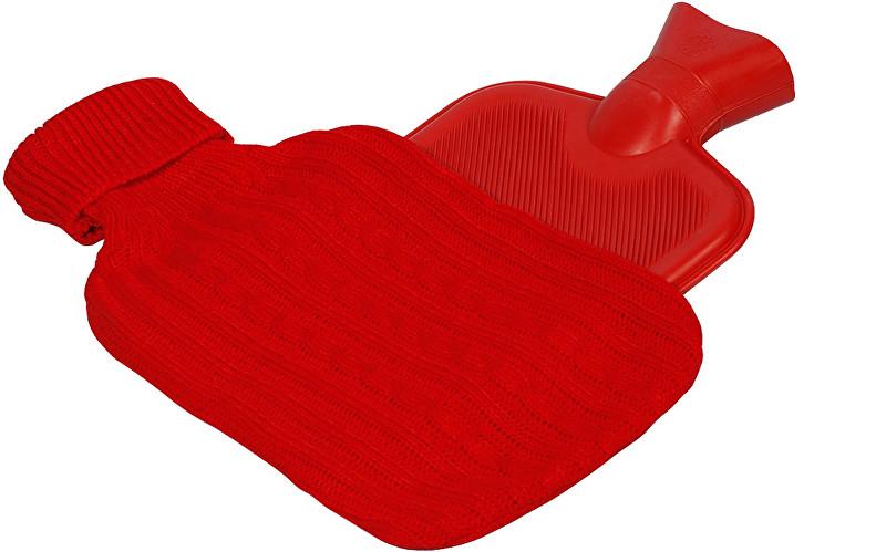 Termofor ohřívací láhev s návlekem BR-495Č Červená
