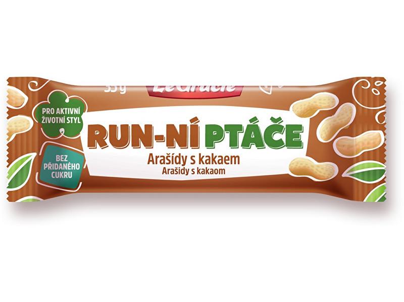 Zobrazit detail výrobku LeGracie Tyčinka  Run-ní ptáče arašídy s kakaem 35g