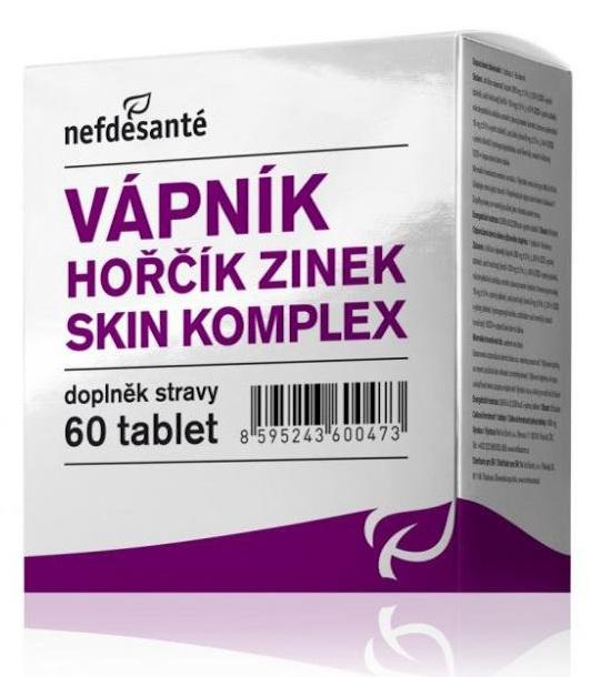 Zobrazit detail výrobku Nef de Santé Vápník Hořčík Zinek Skin Komplex 60 tbl.