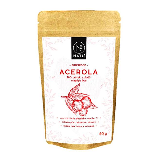 Natu Acerola prášek 80 % BIO 60 g