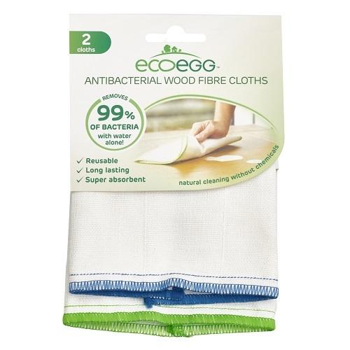 Ecoegg Antibakteriální utěrka z dřevitých vláken 2 ks