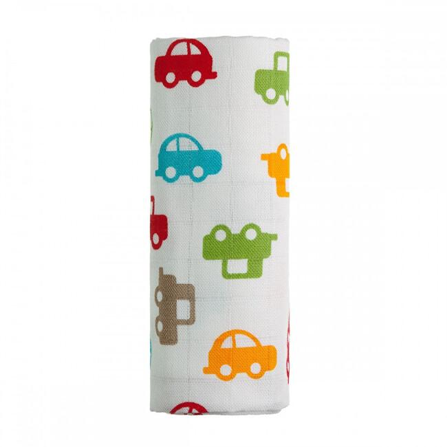 Zobrazit detail výrobku T-tomi BIO Bambusová osuška s potiskem 80 x 100 cm Cars / auta