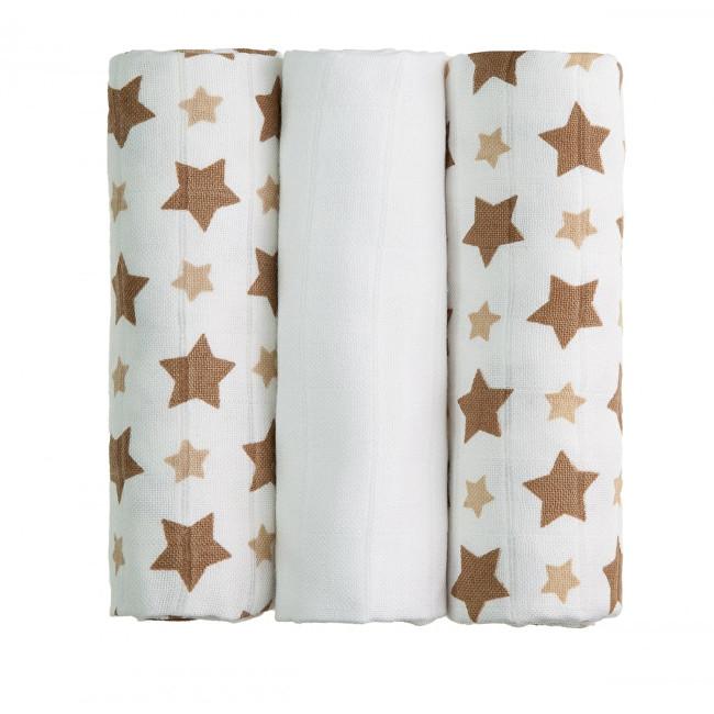 Zobrazit detail výrobku T-tomi BIO Bambusové pleny 70 x 70 cm 3 ks Beige stars / béžové hvězdičky