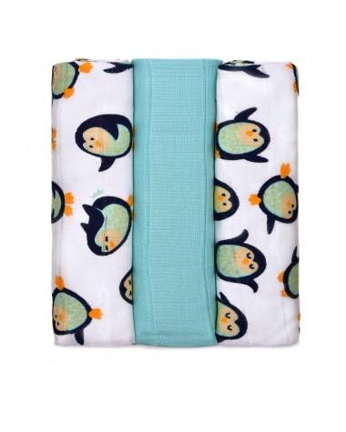 Zobrazit detail výrobku T-tomi BIO Bambusové pleny 70 x 70 cm 3 ks Penguins / tučňáci