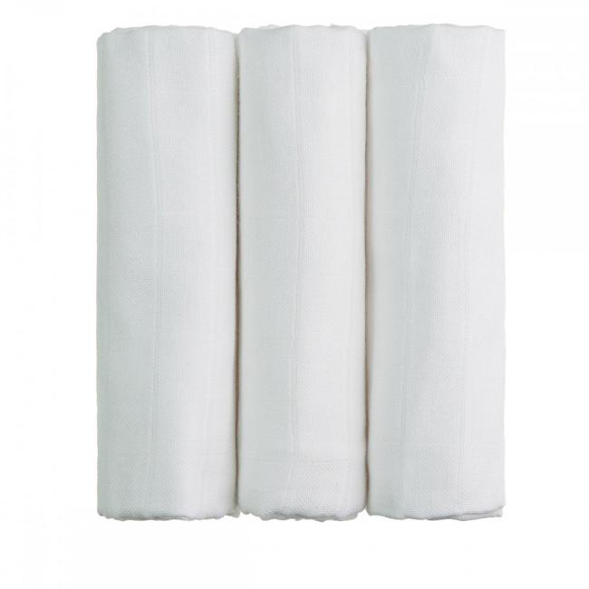 BIO Bambusové pleny bílé 70 x 70 cm 3 ks