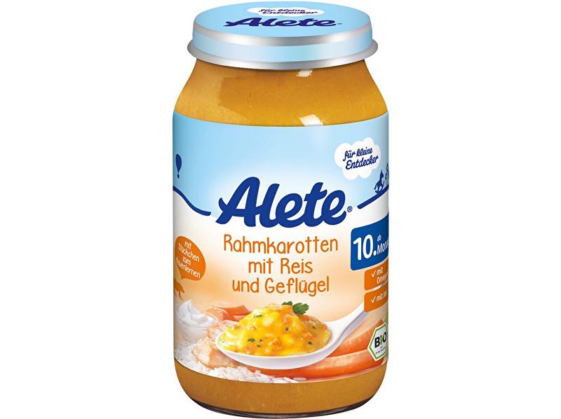 Alete Bio příkrm - mrkev na smetaně s rýží a krůtím masem 220g