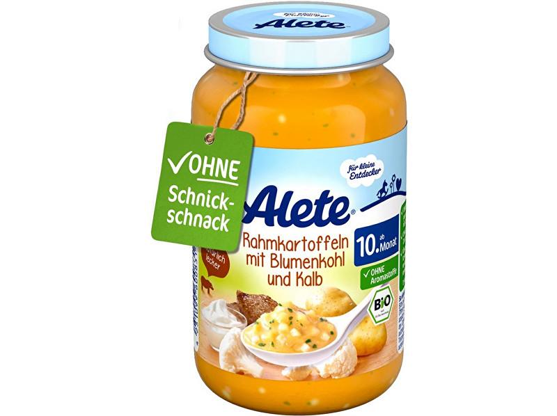 Alete Bio přkrm - brambory na smetaně s květákem a telecím masem 220g