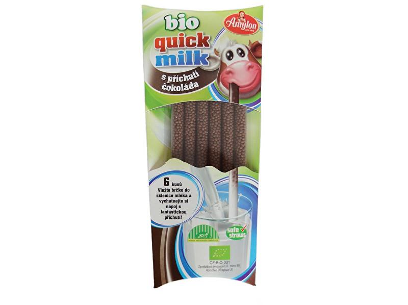 Zobrazit detail výrobku Amylon Bio Quick Milk Magická brčka do mléka s příchutí čokoláda Amylon 6x6g